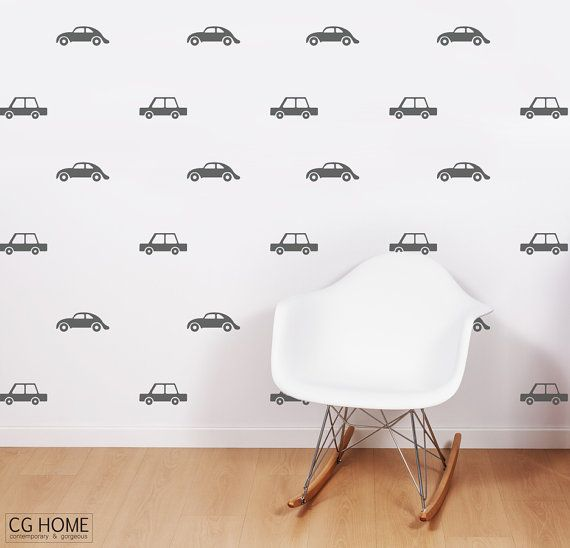 wall decal CARS living street CUSTOM wallpaper car by CGhome