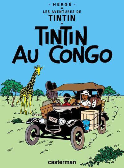 Pour finir notre collection, il nous manqué Tintin au Congo  et On a marché sur la lune