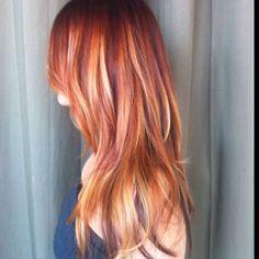balayage red hair | Red Balayage Hair on Pinterest | Red Balayage Highlights, Red Balayage ...
