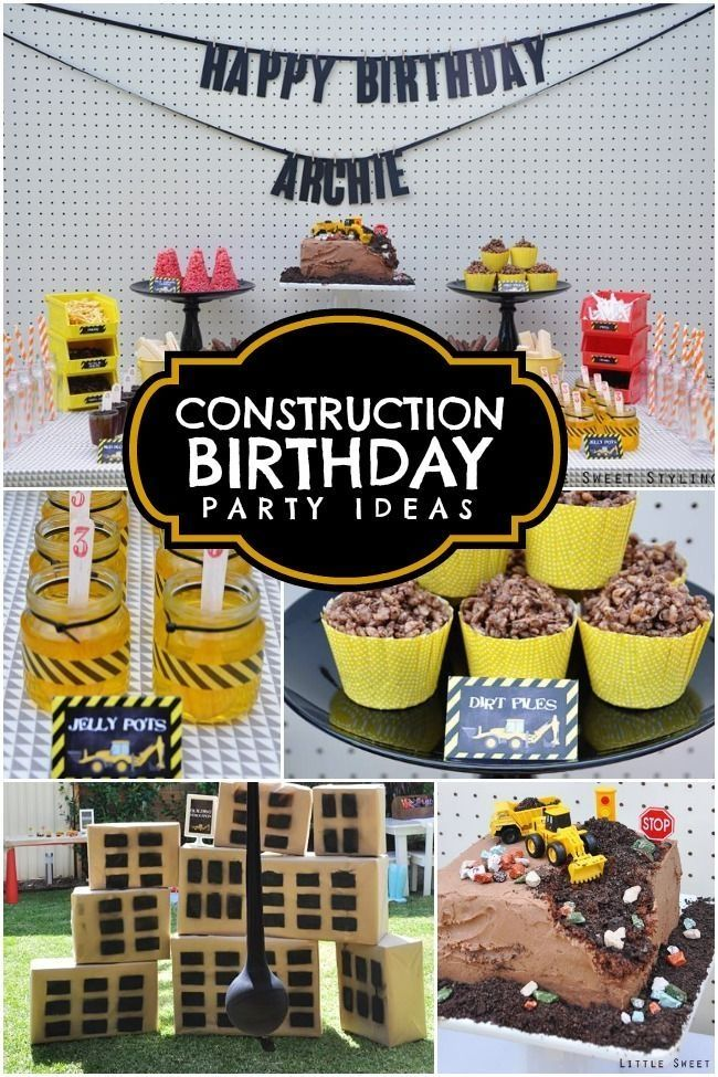 Boy's Construction Birthday Party Ideas - love the wrecking ball.