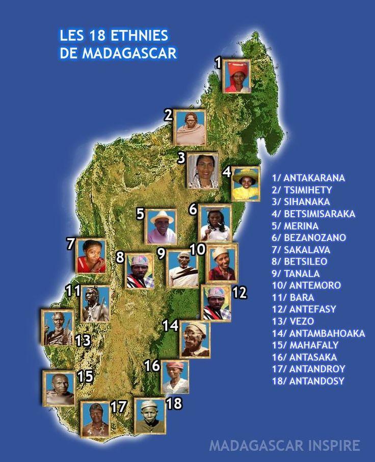 Les dix huit Ethnies de MADAGASCAR