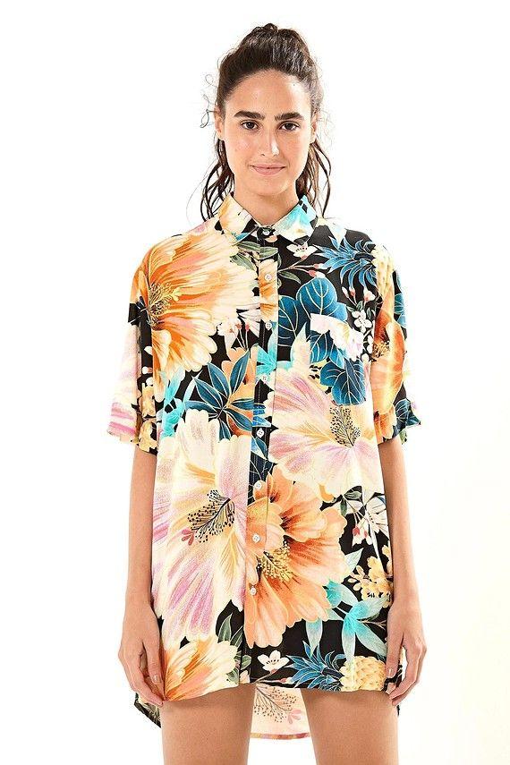 e7d1aae2b0 camisa maxi floral frescor uni