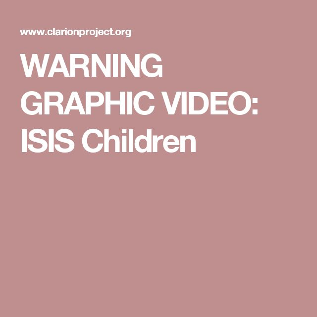 WARNING GRAPHIC VIDEO: ISIS Children | ISLAM | Pinterest | Islam