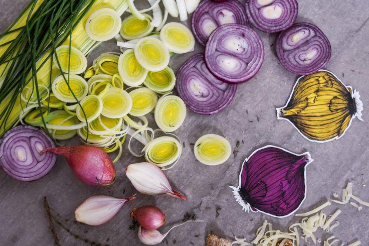 Soupe à l'oignon, poireaux et pommes (vide-frigo)