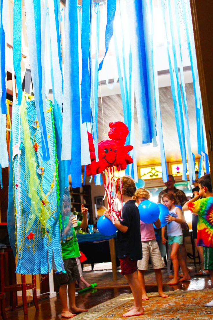 17 best images about underwater kid 39 s birthday party on for Michaels crafts birthday parties