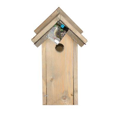 Veel vogels gebruiken graag een nestkast. Ze zijn blij met een plek om te nestelen of te slapen. Ook voor jou is een nestkast een aanwinst. Je lokt er vogels mee naar je tuin of balkon. In de lente zie je het 'gezinsleven' van de tuinvogels van dichtbij.  De nestkast is geschikt voor grote mezen, zoals de koolmees, kuifmees, boomkruipers en bonte vliegenvangers.