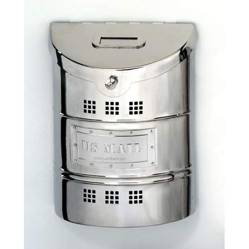 Polished Stainless Steel Large Mailbox With Steel Label Wall Mounted Mailboxes Outdoor