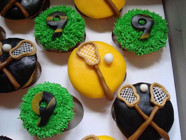 Lacrosse Cupcakes by designercupcakesandmore, via Flickr