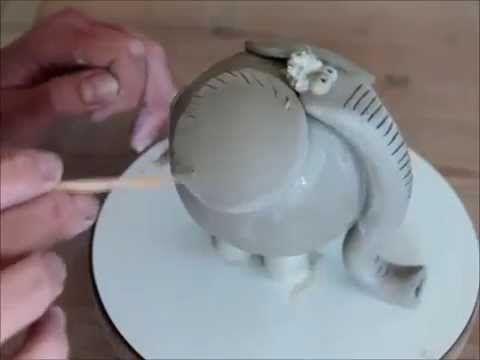 Ceramic elephant, good handbuilding lesson for kids