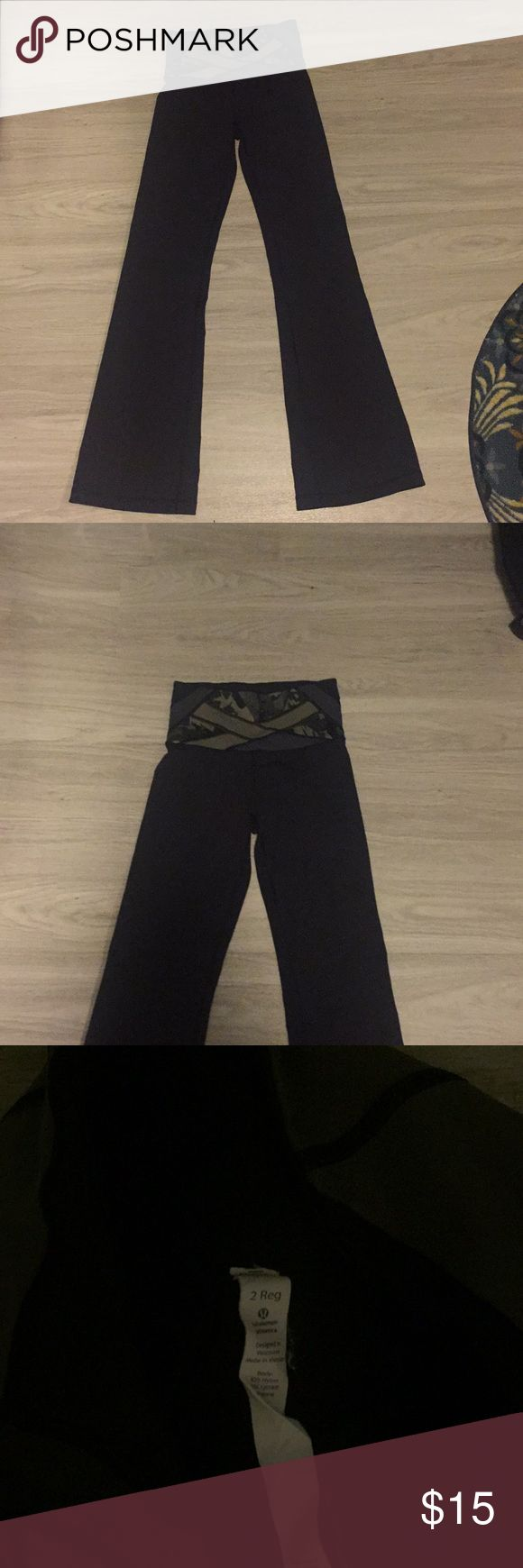 Lululemon high waist camo yoga pants size 2 Good condition small area of piling (shown in the pic) measurements (approx) inseam: 34 inches length: 42 inches lululemon athletica Pants Track Pants & Joggers