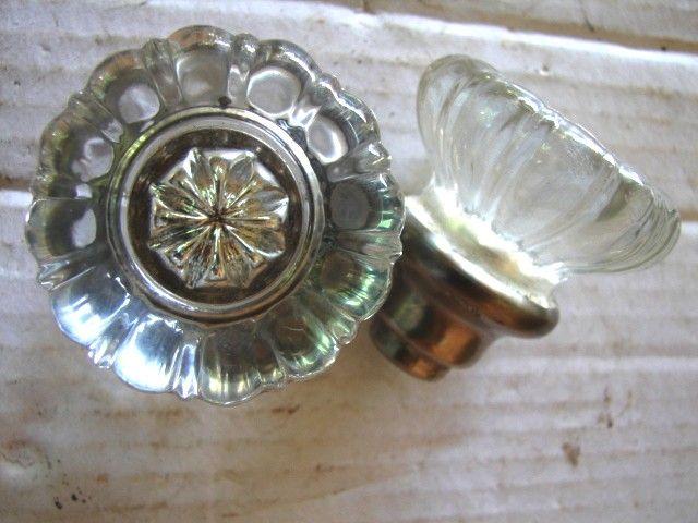 antique hardware glass door knobs