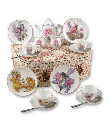 Take a look at this Small Flower Fairies 20-Piece Tea Set by Reutter Porcelain on #zulily today!