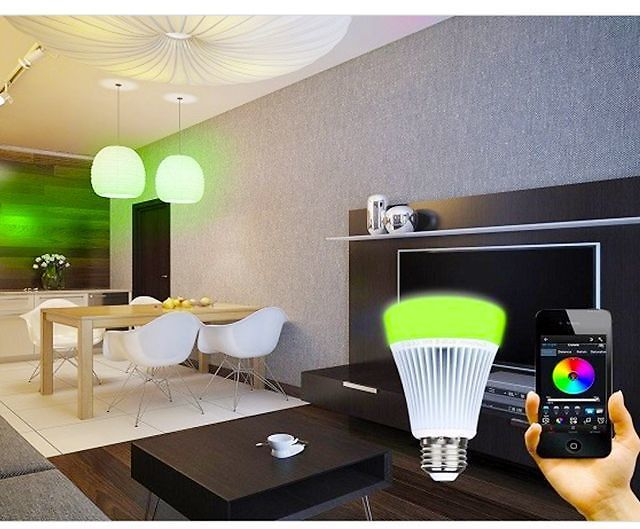 2-Pack: LED Bluetooth Speaker Lightbulb With Remote Control For IOS & Android