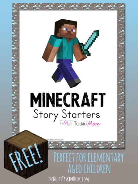 FREE Minecraft Story Starters - The Multi Taskin' Mom