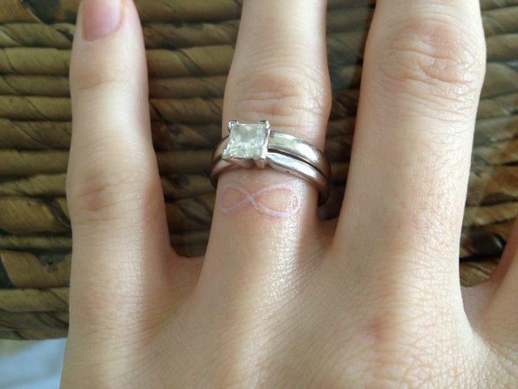 White Ink Tattoos Wedding Ring: Vegas Wedding