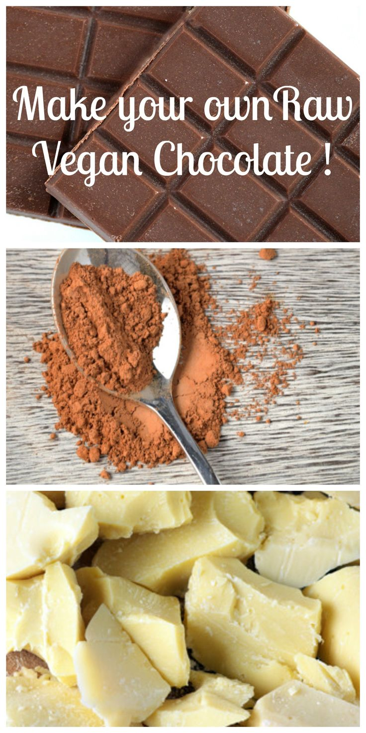 Raw Vegan Chocolate! Super easy and quick to make. Never buy chocolate again!