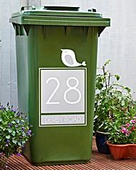 Personalised Wheelie Bin Sticker