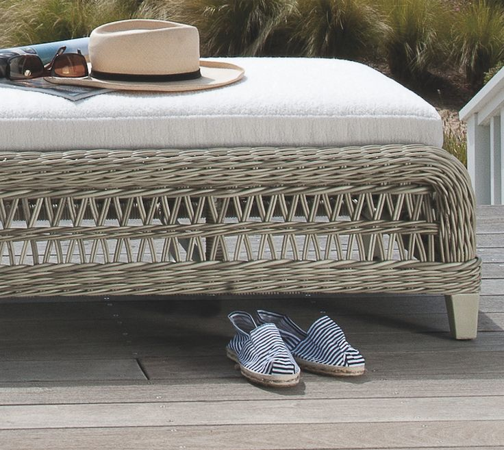 The Arbor Chaise Lounge.  JANUS et Cie | luxury home design | interior design | furniture | luxury home décor | luxurious beachside | luxury ocean lounge | outdoor furniture | outdoor living | interior design | ocean home décor | porch décor | seaside style | outdoor living | luxury outdoor furniture