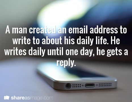 An email diary with an unexpected twist - lots of possibilities with this one (and what format would the book/story be written in?)