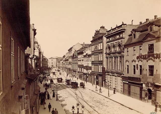 Praga-Příkopy, fotografie rakouského fotografa Aloise Beera kolem roku 1890