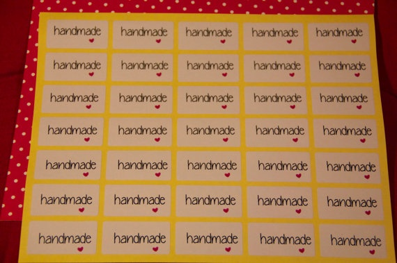 35 rectangular stickers Handmade by pescaefragola on Etsy, €3.00