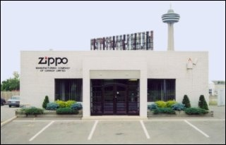 Zippo Canada, before manufacturing operations closed in Niagara Falls (2002).