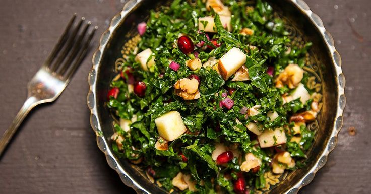 "Michael Solomonov successfully convinces us to eat salad for breakfast with his bright, sweet and crunchy kale ""tabbouleh."""