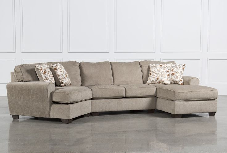 Patola Park 3 Piece Cuddler Sectional W Raf Corner Chaise
