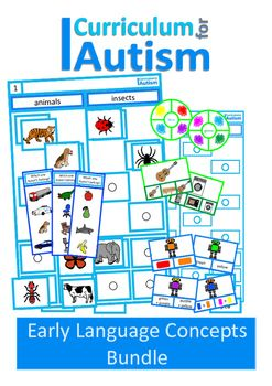 Autism Early Language Concepts BUNDLE, Special Education, Speech Therapy, ABA