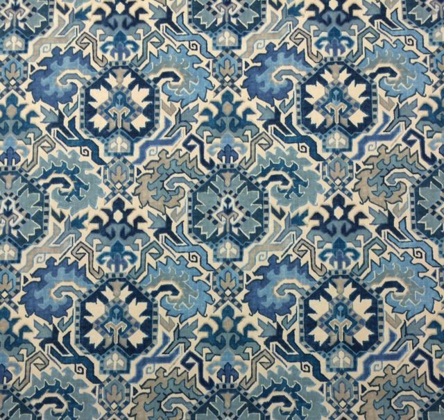 "RICHLOOM MADRID BLUE HAVEN D4168 ETHNIC TRIBAL SOUTHWESTERN FABRIC BY YARD 54""W 