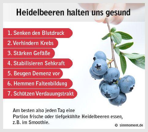 7 Gründe für mehr Heidelbeeren im Essen #gesundheit #heidelbeeren #essen #ernährung
