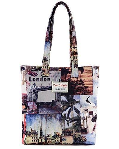 Oferta: 18.03€. Comprar Ofertas de [Hotstyle Fashion Printed] Vintage Londres Bookbag Bolsa para Escuela Chica, S014, CoffeeBrown (multicolor) - HTSUS014A barato. ¡Mira las ofertas!