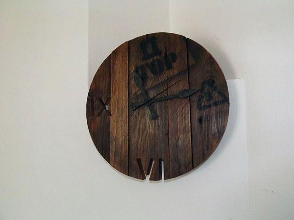 Orologio da parete vintage Art industrial design Shabby Chic Wood Wall Clock
