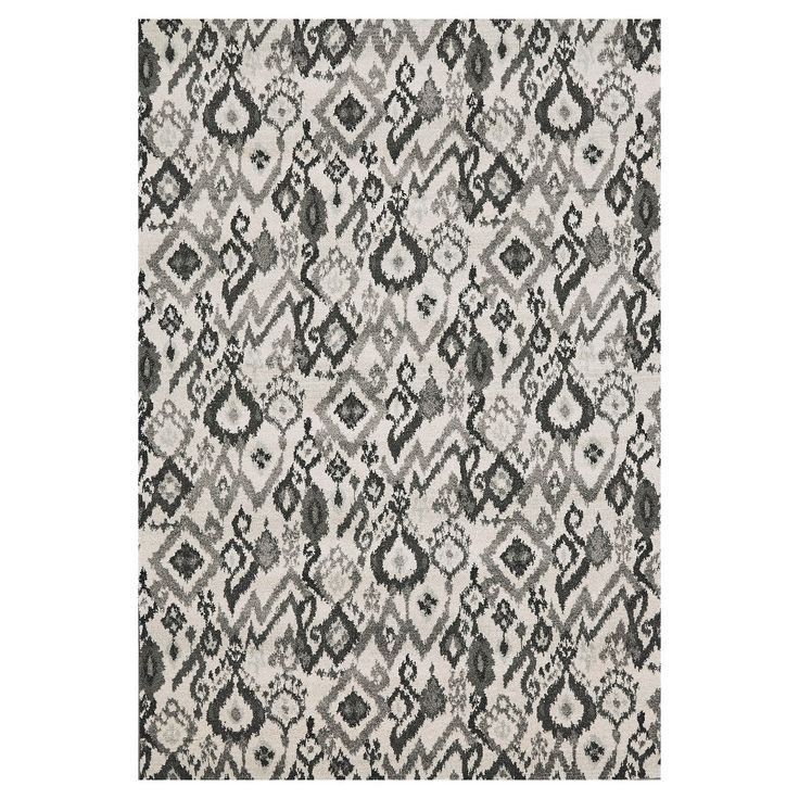 Pewter Geometric Woven Area Rug - (10'X13'2) - Room Envy, Silver