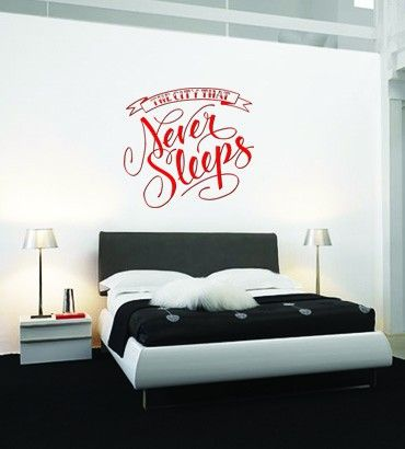 Streetwallz - The City that Never Sleep Wall Decal, $80.00 (http://www.streetwallz.com/the-city-that-never-sleep-wall-decal/)