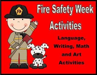 Unit, Fire Safety Week Activities (from Golden Gang Kindergarten)