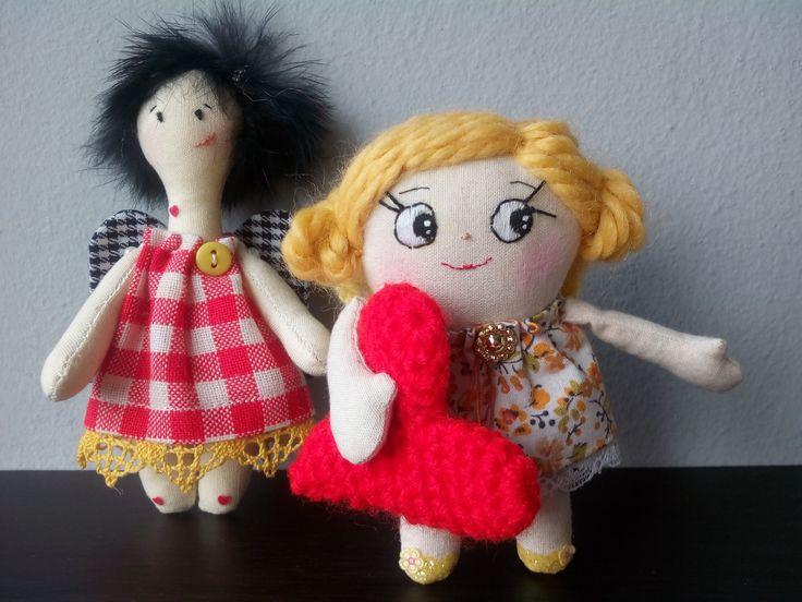 small angels for st. valentine Μικρά αγγελάκια για τον αγ. Βαλεντίνο  (hand made χειροποίητα )