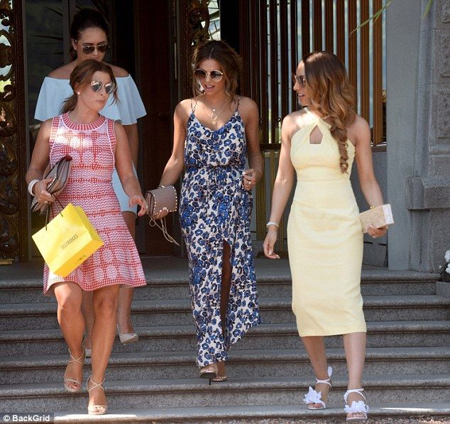 Coleen and Wayne Rooney attend Chris Smalling's Italy wedding #dailymail