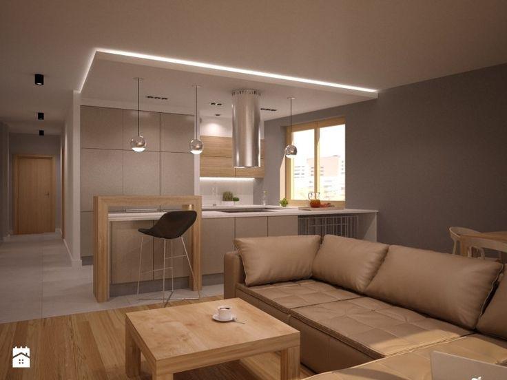 Średnia otwarta kuchnia w kształcie litery g, styl nowoczesny - zdjęcie od NowaConcept