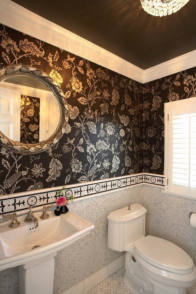 Bathroom Wallpaper Borders Ideas Inspirational Bathroom Borders For Walls Room And Country Bath Wallpaper Border Philips Garden Blog Di 2020