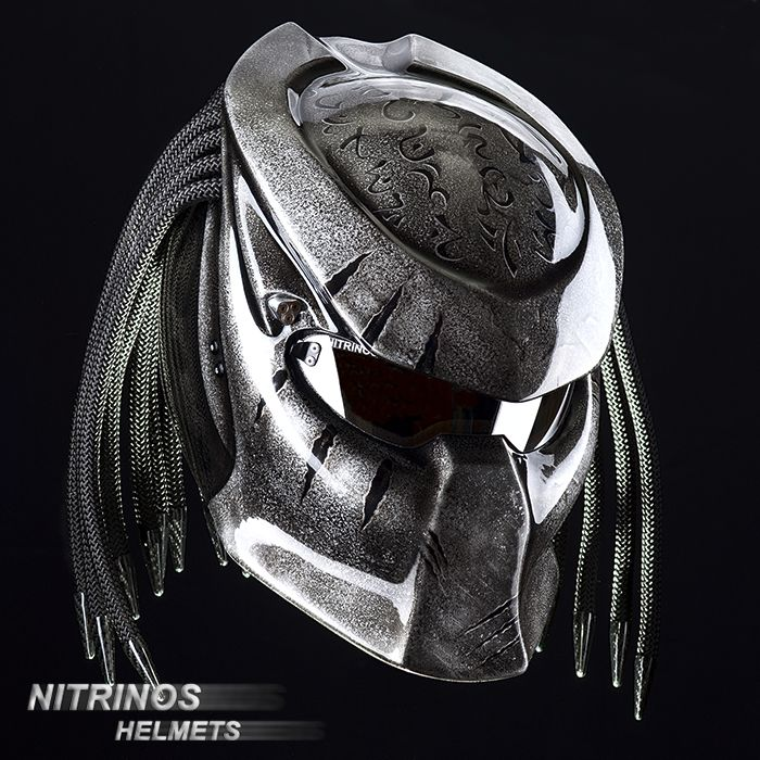 The Predator helmet (original) means: 1. 4 -channel ventilation 2. Changeable visors (clear, dark, mirror) 3. High-tech Kevlar body 4. Safety officially tested and proved - http://www.youtube.com/watch?v=RM5qm84DRzU 6. More than 12 Options 5. More than 60 aerography  We deliver our helmets all over the world.
