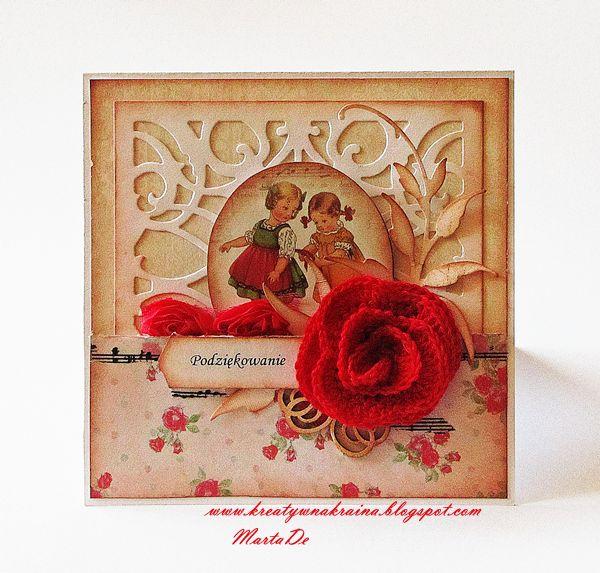 Vintage girls card
