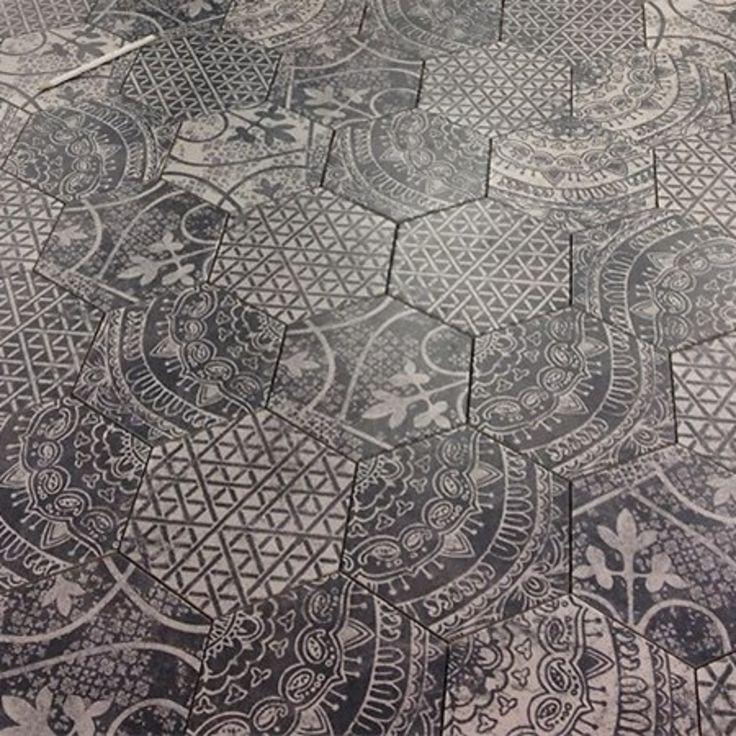 25 beste idee n over zeshoekige tegels op pinterest - Patroon cement tegels ...