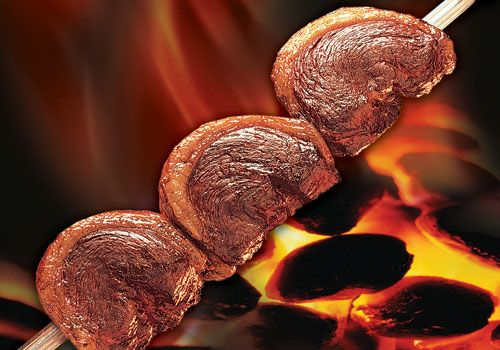 Picanha, a Brazlian cut of beef with garlic and spices, available at Fogo de Chao in Las Vegas.