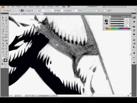 Digital Inking Vortex Tutorial - Intuos - Illustrator CS4