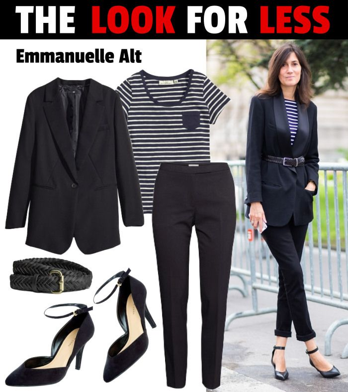 Love this Look For Less feat. #EmmanuelleAlt  Get it for $103 (head to toe!) on www.fatfreefashion.com #style #parisienstyle