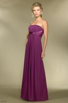 Chiffon A Line Gathered Strapless Style 2974 Bridesmaid Dress By Alexia Designs