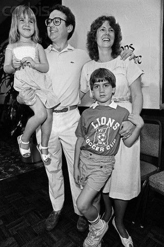 Christa McAuliffe with Family  July 1, 1985