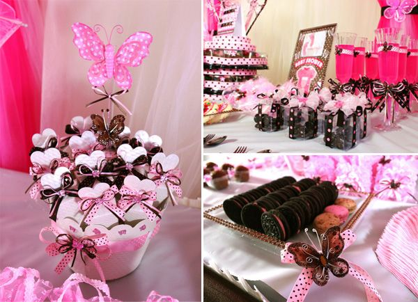 best baby girl images on   butterfly baby shower, Baby shower