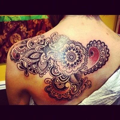 white lace tattoo idea